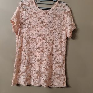 NWT- Blush Lace Top